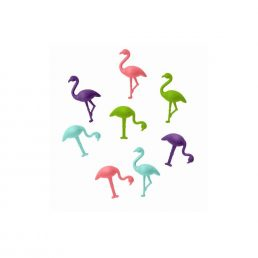 8 Flamingos design clip...