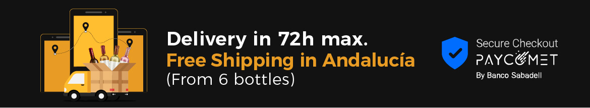 Fast shipping. Free shipping from 6 bottles in Andalusia